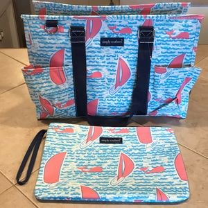 Simply Southern Tote and Zippered Bag (Set )